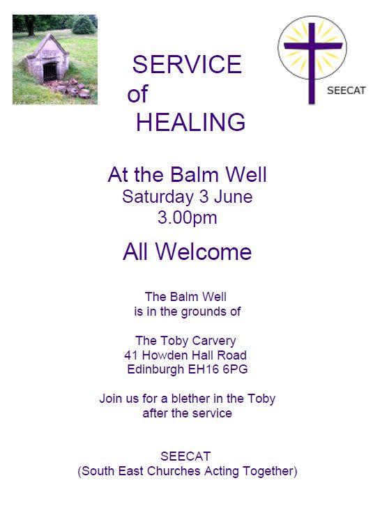 Service of Healing at the Balm Well (SEECAT) @ Balm Well, Edinburgh